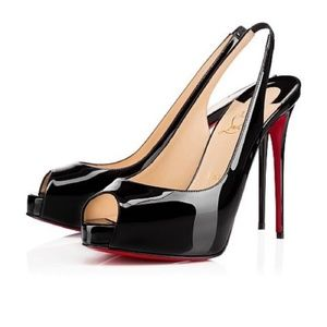 Christian Louboutin Patent Leather Slingbacks